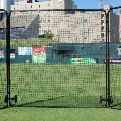 Tri-Fold Baseball Field Screen With Wheels