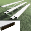 Small Park Bleachers Bleachers Front Side View Shown With Standard Single Foot Boards | Made In USA Series