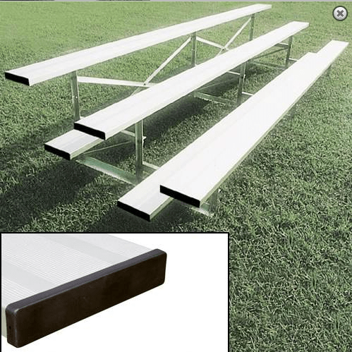 Small Park Bleachers Bleachers Front Side View Shown With Standard Single Foot Boards   Made In USA Series