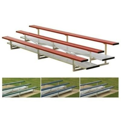 Small Park Bleachers Bleachers With Team Color Seats & Double Foot Boards | Made In USA Series