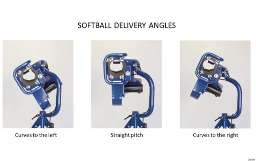 BATA 1 Curveball Pitching Machine Showing Softball Delivery Angles