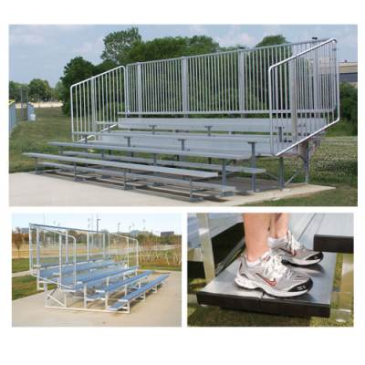 4 Row Bleachers With Picket Fence