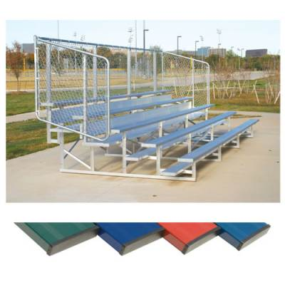 4 Row Bleachers With Safety Fence