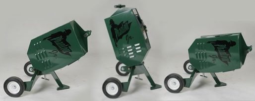 Phantom Jr Pitching Machine Shown in 3 Positions