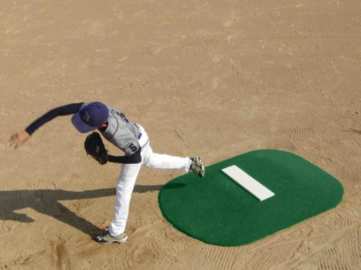 6 Inch Stride Off Portable Mound Green Astroturf Cover Shown High Front View