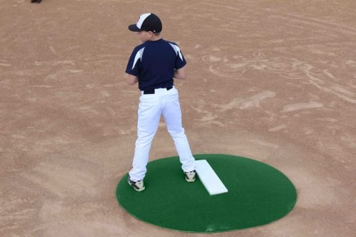 6 Inch Stride Off Portable Pitching Mound | Green Astroturf Cover