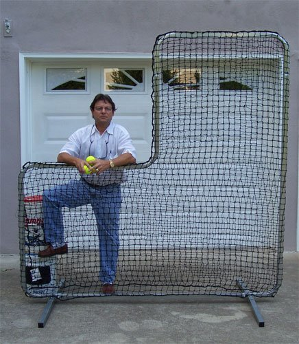Our Most Popular 7' x 7' Pitchers L Screen Team Model & Removable Legs For Easier Storage
