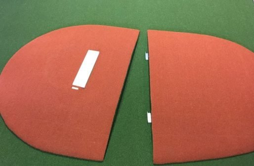 10 Inch Tall 2 Piece Outdoor Portable Pitching Mound Game Mound In Clay Astroturf