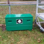 sport box sports equipment storage box showing front view