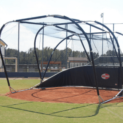 Portable Baseball Backstop Baseball Turtle & Free Padding Package | Front Side View