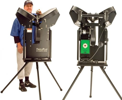 Triple Play Pro Automatic Pitching Machine | Front & Rear Views