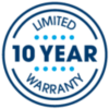 10 yr guarantee graphic