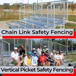 Aluminum Bleacher with Safety Fence