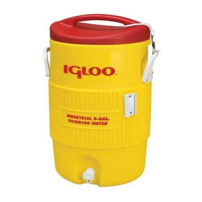 yellow igloo cooler in 5 & 10 gallon