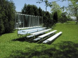 Ground level bleacher seating non elevated