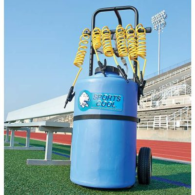rolling powered team drinker sports hydration sports water station front view