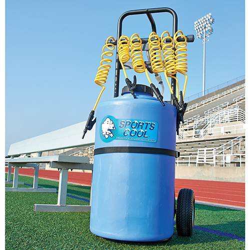 rolling powered team drinker sports hydration sports water station front view-sports hydration station