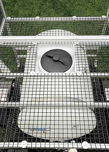 100 gallon football water hydration station overhead view
