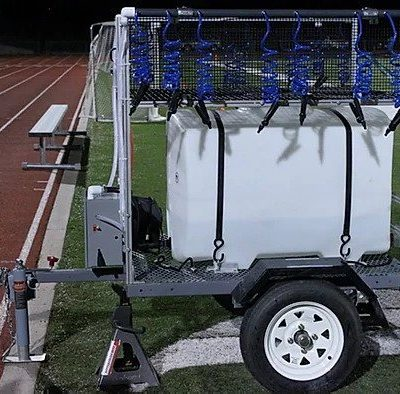 100 gallon football hydration station side view
