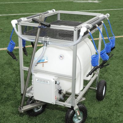 35 gallon water wagon hydration cart with 8 hoses