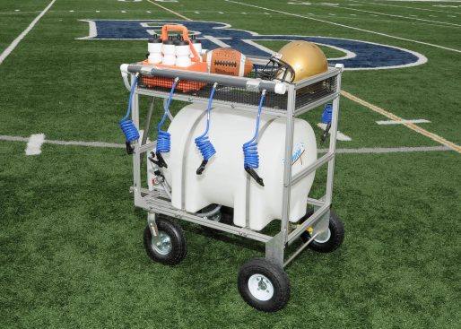 35 gallon water wagon hydration cart with 8 hoses & trainers shelf