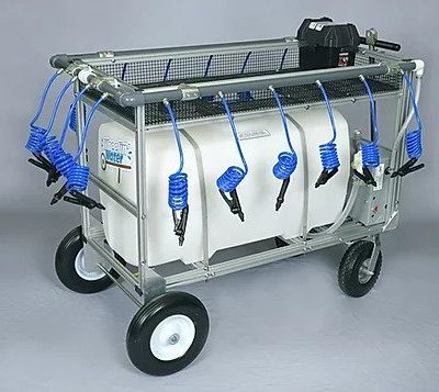 50 gallon portable water wagon side view