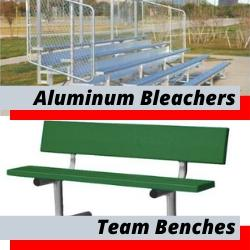 Aluminum Bleachers Team Benches for Parks Stadiums Race Tracks Gymnasium