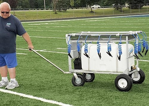 50 gallon portable water wagon In Transport Mode