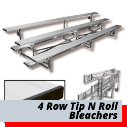4 Row Tip And Roll Bleachers