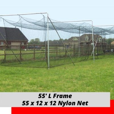 55' x 12 x 12 Batting Cage Frame Nylon Net
