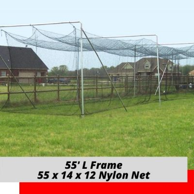 Complete Batting Cage Nylon Net 55x14x12