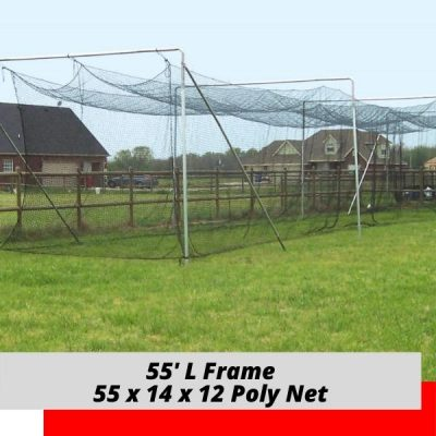 Complete Batting Cage Poly Net 55x14x12